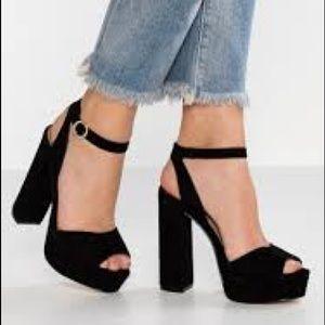 """Steve Madden """"Madeline"""" black suede heels"""